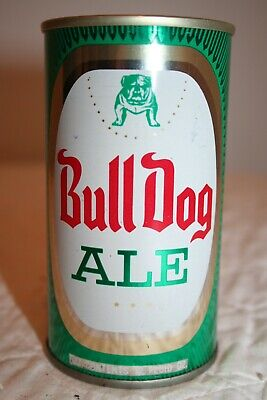 Bull Dog Ale 12 oz. SS pull tab beer can from Los Angeles, California