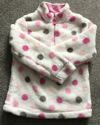TU ~ Girls Fleece - White & Pink Mix - Age 8 Years In  Superb  Condition