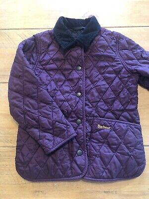 Girls Barbour Quilted Jacket Age 4-5 Years (XS)