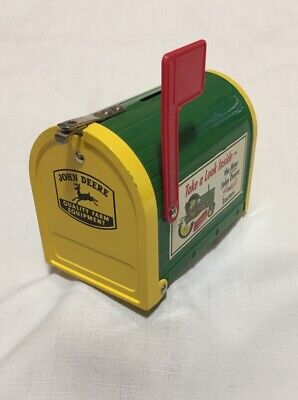 John Deere Mini Metal Mailbox Bank Officially Licensed Collectible