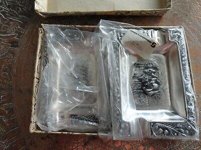 Vintage 4 Danish Silver Plated Ashtrays by Jorgen Th. Steffensen- Never Used
