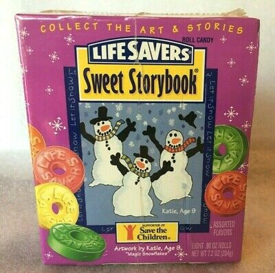 Vintage 80's Life Savers Sweet Storybook 8 Roll Candy Sealed Save the Children