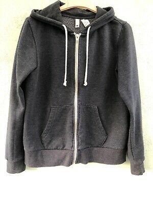 Ladies/Girls Hooded Fleece Jacket Size M From H&M Grey  With Front Pockets & Zip