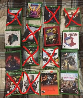 Lot of Various XBOX ONE Games - Crossed off are Sold