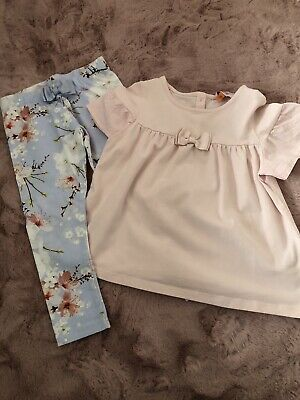 Girls Ted Baker Top And Leggings Set, 3-4 Years