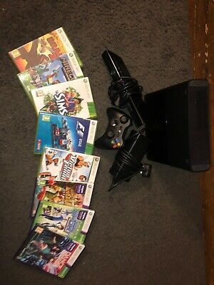 XBOX 360 With 8 Games And Kinect