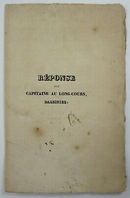 Antique Whaling History Captain Jeremiah Winslow New Bedford Havre France 1832