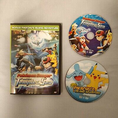 Pokemon Ranger and the Temple of the Sea & Pikachus Island - 2 DVD Movies Set