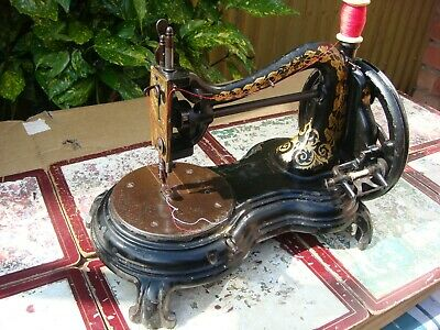 Antique Old Vintage Jones Sewing Machine Serpentine Swan Neck c.1880 See Video