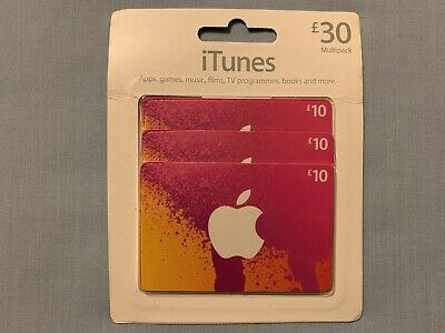 Apple iTunes £30 Gift Voucher, App Store, Apps, Games, Music, Films, Books, BNWT