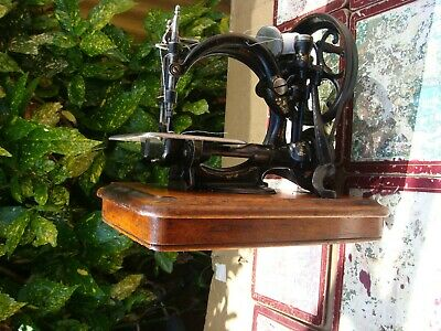 Old Vintage Antique  Sewing Machine Wilcox Willcox & Gibbs See Video
