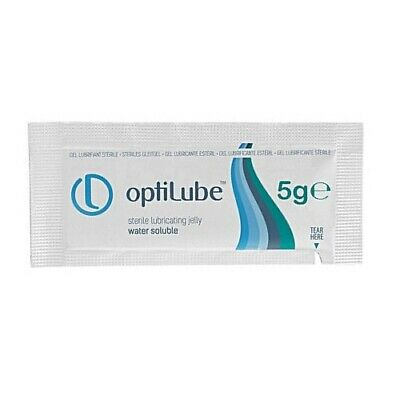 100x OptiLube 5g Sachets Sterile Lubricating Jelly Gel in Sachets Water Soluble