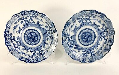 Pair of Japanese Imari underglazed blue Plates, 19th century