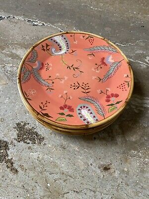 2 Tracy Porter The Artesian Road Collection Hand Painted Salad Dessert Plates