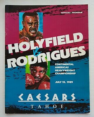 1989 EVANDER HOLYFIELD v ADILSON RODRIGUES on-site programme Mike Tyson era
