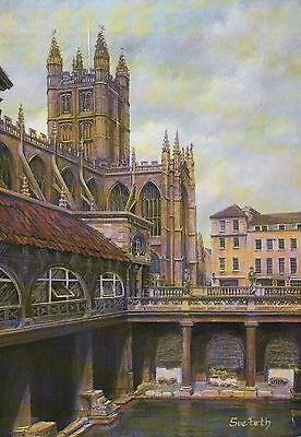The Great Roman Bath, Bath England, Great Britain -- United Kingdom Art Postcard