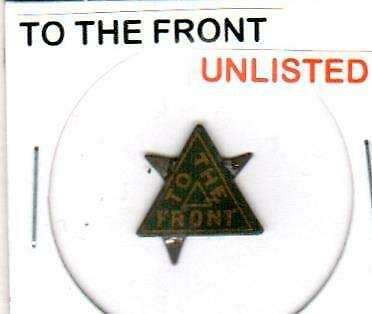 To The Front *Unlisted* Vintage Tin Lithographed Tobacco Tag
