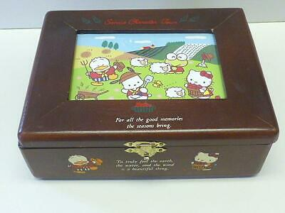 1990's Sanrio Character Town HELLO KITTY & Friends Wooden Jewelry Box Vintage