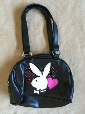 Playboy Purse - Black Bag Pink Heart White Bunny Logo