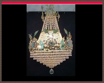 Vintage Antique Brass European Cake French Empire Chandelier 1 of A Kind Fixture