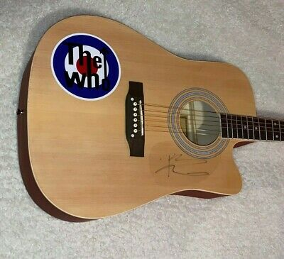 Pete Townshend The Who Signed Autographed F/S Customized Acoustic Guitar W/Proof