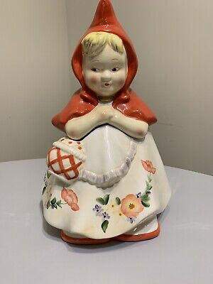 """""""LITTLE RED RIDING HOOD""""  CLASSIC COOKIE JAR  BY JONAL 12 x 8  EXCELLENT"""