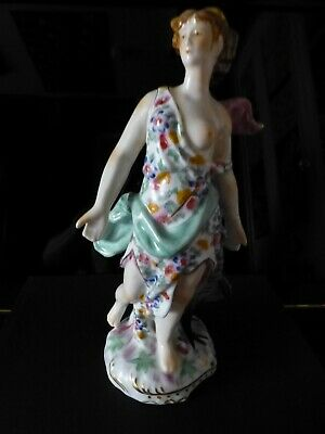 """11"""" Continental or French Antique Hand Painted Sevres-like Porcelain Figurine!!!"""