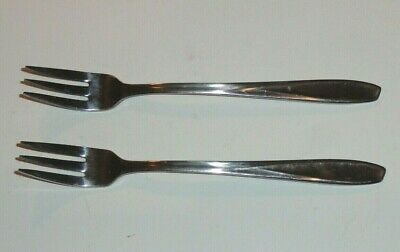 2 Piece Lot Of Stainless Steel Silco Hors D'oeuvres Forks Usa
