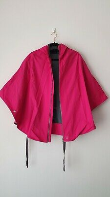 Otto London Cycling Poncho for Festivals Outdoors Pink // Blk // Prpl RRP£88