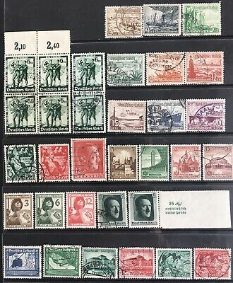 Germany Third Reich 1937-1938 issues MNH/MLH & Used