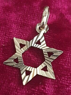 "Very Nice  Hallmarked Solid 9Ct Gold "" Star Of David"" Pendant,Medallion,"