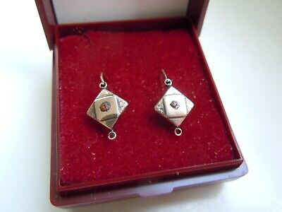 Antique Imperial Russian GOLD 56 14K Earrings 19th century!!!