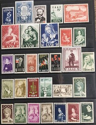 Germany 1953-1956 Saar issues MNH/MLH