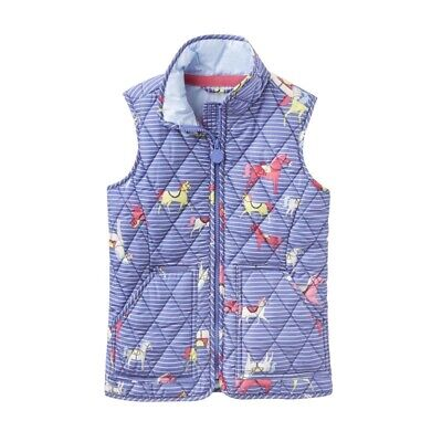 Joules Skipton Girls Quilted Gilet Bodywarmer BNWT - Age 5 Years