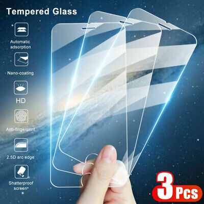 For iPhone SE 2020 11 Pro Max XR XS 8 7 6 Tempered Glass Screen Protector Cover