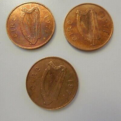 Ireland - Eire - Two Penny (2p) 1971  X 3