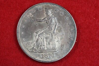 ESTATE FIND HIGH GRADE 1876  Silver Trade Dollar  #H13209