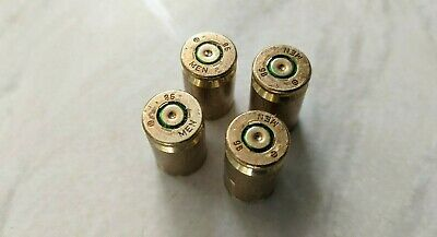 Handmade - Real Bullet Shell Casing - Tyre Dust Caps - Made from fired Bullets