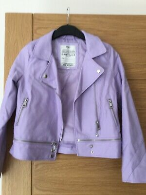 GIRLS  LILAC BYKER JACKET AGE 10 To 11 FROM MARKS AND SPENCER