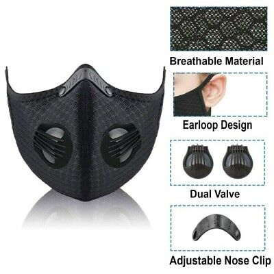 5X Reusable Mouth Face Cover With Filter Anti PM2.5 Dust Cycling Protector Lot