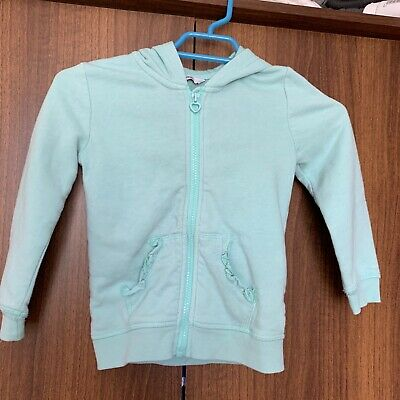 George Green/blue Girls hoodie with pockets Age 4-5 years. Used