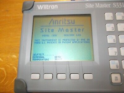 Anritsu Wiltron Site Master S331 Cable and Antenna Analyzer with hand book