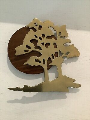 Vintage 1989 House of Lloyd Solid Brass Bonsai Tree Of Life Hanging Wall Art