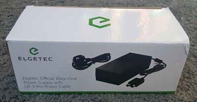 Elgetec Official Xbox One Power Supply With UK 3 Pin Power Cable. Unused.