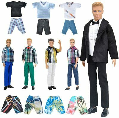 Clothes and Accessories For Ken Dolls-5 Outfits 5 Pairs of Shoes, For Ken Barbie