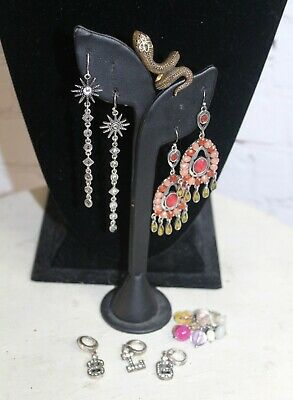 Mixed Lot of Fossil & Lucky Brand Jewelry ~ Rings Earrings Charms