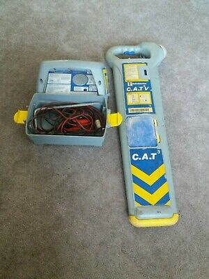 RADIODETECTION CAT3V PIPE & CABLE AVOIDANCE TOOL c/w GENNY 3 SIGNAL GENERATOR