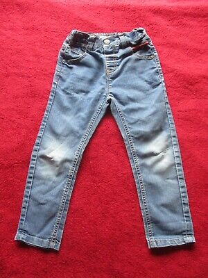 NEXT Blue Jeans Age 3-4 Years / 104cm Height Ripped Knees Stonewash