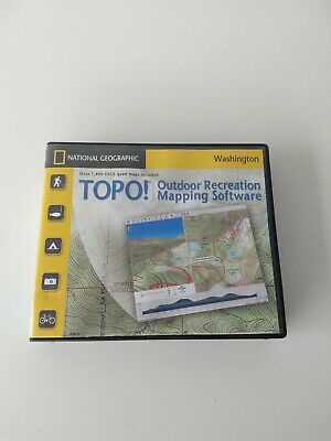 National Geographic TOPO! Washington Outdoor Rec. Mapping Software PC CD