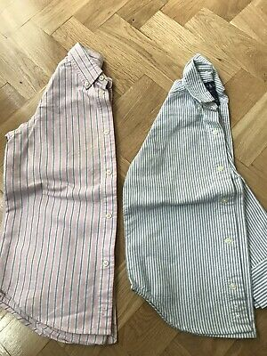 2 X Ralph Lauren Designer Classic Striped Collton Shirt 6 Yrs